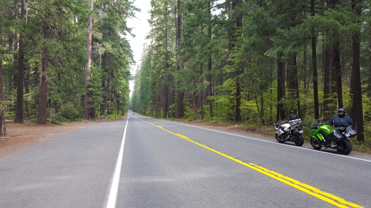 On motorcycles in Oregon